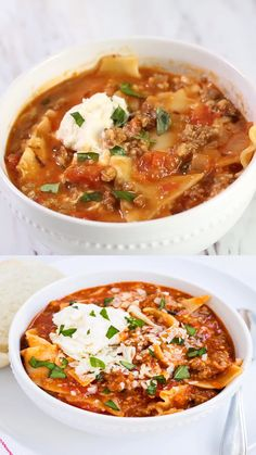 One Pot Lasagna Soup Recipe – All the delicious flavors of homemade lasagna without all the work! One Pot Lasagna Soup Recipe – All the delicious flavors of homemade lasagna without all the work! Lemon Recipes, Greek Recipes, Italian Soup Recipes, Orzo Recipes, Bean Soup Recipes, Homemade Lasagna, Homeade Soup, Cooking Recipes, Healthy Recipes