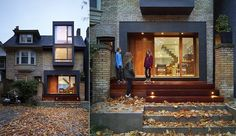 In the city's east end,Drew Mandel Architectshave transformed a typical brick-clad semi-detached into a striking and warm haven for a family of five.