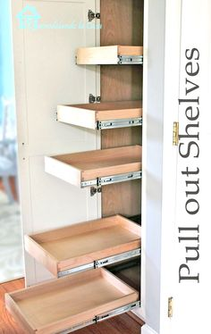 DIY - dimensions on how to build the drawers and install them in cabinet