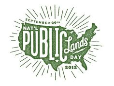 Type that fills a shape | National Public Lands Day
