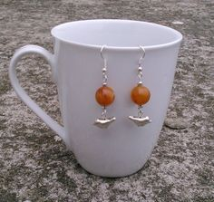 vintage lucite bead earrings