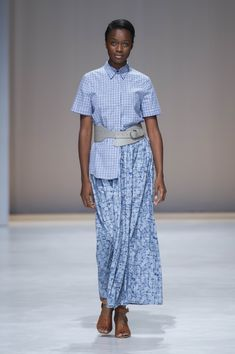 Amanda Laird Cherry   Spring Summer 2018    Look 16   Photo by Eunice Driver for South African Fashion Week South African Fashion, African Fashion Designers, Spring Summer 2018, Amanda, Shirt Dress, Cherry, How To Wear, Shirts, Dresses