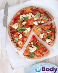 Sweet Potato & Roast Capsicum Pizza with Ricotta - 336 cals per Pizza