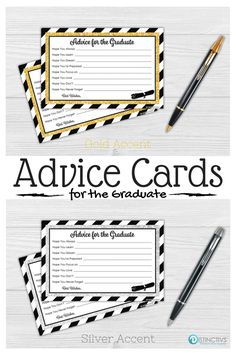 This set of 25 graduation party advice cards are a great way for your graduation party guest to write out their advice and words of wisdom to the graduate.