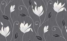 Synergy - Vymura Wallpapers - A graceful magnolia trail embellished with glitter on a finely textured shimmering ground. Shown here in Black ebony - more colours are available. Please request a sample for true colour match. True Colors, Colours, Digital Texture, Colour Match, Wallpaper Ideas, Apartment Ideas, Magnolia, Pattern, Palm