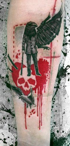 Buena Vista Tattoo Club. Ink Spill Tattoo Abstract Art