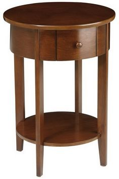 Furniture at Kohl's - This Home Star Products round Madison accent table adds a traditional look to any room. Large Round Table, Round Table And Chairs, Round Accent Table, Round Dining Table, End Tables, Accent Tables, Coffee Tables, Unfinished Furniture, Walnut Furniture