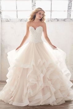 Morilee Marcia 8116 Strapless Lace Bodice Ball Gown Wedding Dress – Off White Strapless Lace Wedding Dress, Lace Ball Gowns, Wedding Dresses Photos, Tulle Ball Gown, Wedding Dress Trends, Bridal Wedding Dresses, Wedding Dress Styles, Dream Wedding Dresses, Ball Dresses