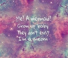 I believe in unicorns and mermaids!unicorns are cool. They're unicorns I Am A Unicorn, Unicorn And Glitter, Magical Unicorn, Rainbow Unicorn, Unicorn Pics, Unicorn Farts, Beautiful Unicorn, Cute Quotes, Funny Quotes
