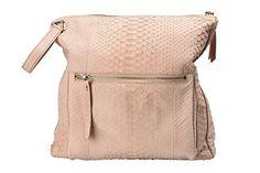 Maison Margiela 11 Women's Beige Python & Leather Handbag Shoulder Bag