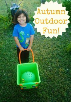 Autumn Outdoor Fun! #kids #activity #gummylump #Outdoorplay