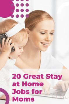 Looking for a Stay at Home Mom Job! We have 15 great jobs for moms, plus 2 brand new ones for 2020! #momjobs #momlife #mom