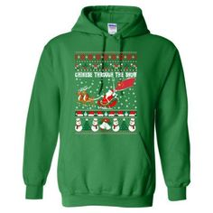 Chinese Through The Snow Ugly Christmas Sweater - Heavy Blend™ Hooded Sweatshirt