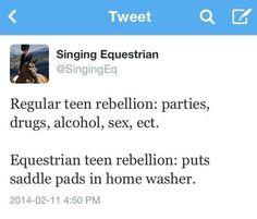 Regular teen vs. Equestrian teen