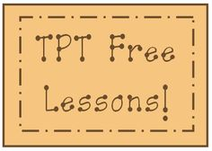 TPT Free Lessons Pinterest Board!