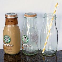 DIY Cheap Glass Milk Bottles | tealandlime.com
