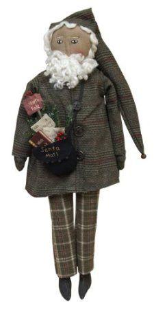 Mail Bag Santa Primitive Doll