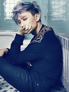 "Jang Hyunseung of B2ST. for the group ""Trouble Maker"" with HyunA in 4minute. Song name ""There is no tomorrow"
