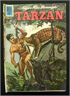 TARZAN, Dell Comics #128, Jan - Feb, 1962 Comic Book