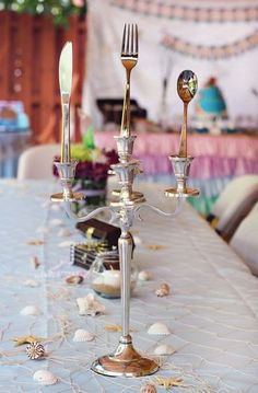 The Little Mermaid Birthday Party Ideas Little Mermaid Wedding, Little Mermaid Birthday, Little Mermaid Parties, Mermaid Bridal Showers, Disney Bridal Showers, Birthday Parties, 4th Birthday, Birthday Table, Birthday Ideas