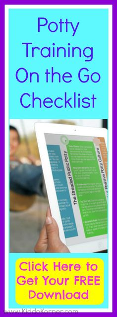 Click here to get your FREE potty training on the go checklist: http://eepurl.com/-DLBf