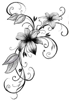 Professional tattoos – from design and draft of the motif to implementation … – diy tattoo images - flower tattoos Lily Tattoo Design, Flower Tattoo Designs, Design Tattoos, Diy Tattoo, Small Flower Tattoos, Small Tattoos, Tribal Foot Tattoos, Tatuagem Diy, Illustration Tattoo