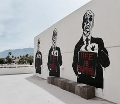 Brainwash in Palm Springs Palm Springs, Street Art, Darth Vader, Fictional Characters, Fantasy Characters