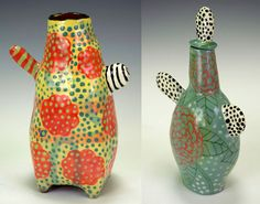2 vases1 Nancy Gardners Ceramics.