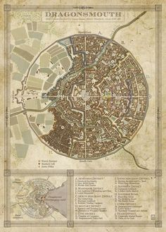 A city map commisioned for Steel and Steam, an upcoming fantasy steampunk kickstarter run by Silverhold Studios.