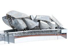 3D sketch - Fondation Louis Vuitton pour la Création #white