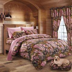 Pink Camo Microfiber Comforter