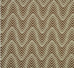 New Zebra Geo Copper fabric looks amazing on accent chairs and pillows.