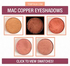 MAC Copper Eyeshadows Photos & Swatches