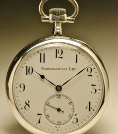 Montre ancienne gousset LIP CHRONOMETRE  en ARGENT  silver pocket watch