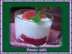 Blanc-manger au pamplemousse et sirop d'érable