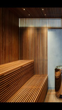 Sauna Steam Room, Sauna Room, Spa Interior Design, Apartment Interior Design, Saunas, Tiny Living, Home And Living, Sauna Design, Spa Rooms
