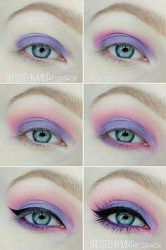When it comes to eye make-up you need to think and then apply because eyes talk louder than words. The type of make-up that you apply on your eyes can talk loud about the type of person you really are. Makeup Goals, Makeup Inspo, Makeup Art, Hair Makeup, Makeup Ideas, Nail Ideas, Makeup Style, Pastel Goth Makeup, Purple Makeup