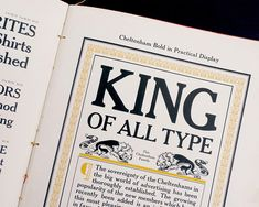 Tuesday Typeface of the Week: Cheltenham http://shar.es/1aIkud