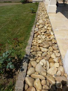 Bordure de terrasse en galet