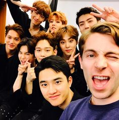 """"""" 170526 jeff__benjamin : Had an awesome talking with EXO backstage before their majorly impressive Exo'rdium Tour concert in New York. I first interviewed EXO in summer 2013 when they were still very new on the scene and visibly nervous. It was..."""