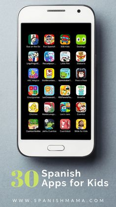 The Top Spanish Apps for Kids in 2019 Learn Spanish at home with these popular Spanish apps for kids! This list of over 30 apps includes options for Spanish learners, learning to read and write in Spanish, access online books, and more. Preschool Spanish, Spanish Lessons For Kids, Spanish Basics, Elementary Spanish, Spanish Activities, Teaching Spanish, Spanish Games, Vocabulary Activities, Spanish Classroom