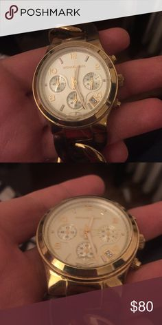 Michael Kors tortoise link watch see pics Michael Kors gold and tortoise link watch. Needs some repair hence the price. Love this watch! MICHAEL Michael Kors Accessories Watches
