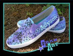 Purple Shoes/KEDS/Keds Painted Shoes/Purple/Lavender by GranArt