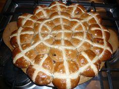My Pampered Life: Apple, sultana and cinnamon hot cross buns (egg free, dairy free, vegan)