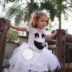 Festa Infantil Halloween - Fantasia Fantasminha