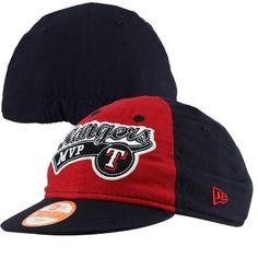 New Era Texas Rangers Infant Tiny Team Script 9TWENTY Hat - Navy Blue/Red