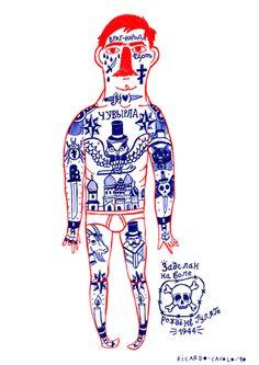 Ukrainian Prison Tattoos