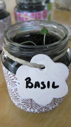 grow herbs in baby food jars, how to reuse baby food jars, baby food jar crafts, recycle baby food j Baby Food Jar Crafts, Mason Jar Crafts, Baby Crafts, Mason Jars, Crafts For Kids, Arts And Crafts, Gift Crafts, Fun Crafts, Baby Jars