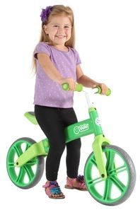 YVolution Laufrad Y Velo Balance Bike grün mit EVA Handgriffen