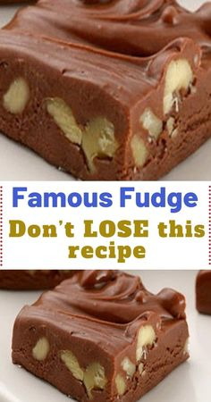 Famous Fudge – Don't LOSE this recipe - Barbara G. I am looking for a recipe for fudge using carnation milk, with no chocolate or marshmallows, just the plain Fudge, My Mother made it for us in the fifties and it was very good. This is a very simple fudge Homemade Fudge, Homemade Candies, Homemade Chocolate, Homeade Candy, Holiday Baking, Christmas Baking, Candy Recipes, Cookie Recipes, Holiday Recipes